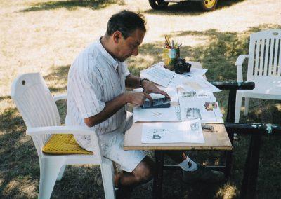 Peinture décorative et lettrage sur le bassin d'Arcachon