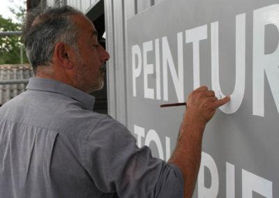 Peinture décorative et lettrage à Bordeaux